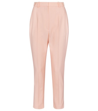 Alexander McQueen - High-rise tapered virgin wool pants - mytheresa.com