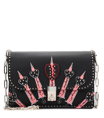 Valentino - Valentino Garavani Loveblade leather shoulder bag - mytheresa.com