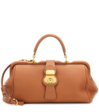Burberry - The Trench leather bowling bag - mytheresa.com