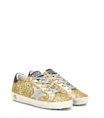 Golden Goose Kids - Zapatillas Superstar de glitter - mytheresa.com