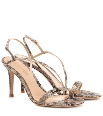 Gianvito Rossi - Manhattan 85 leather sandals - mytheresa.com