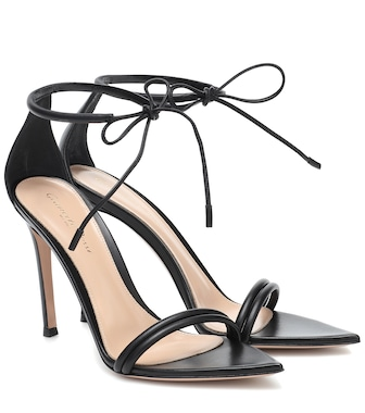 Gianvito Rossi - Montecarlo leather sandals - mytheresa.com