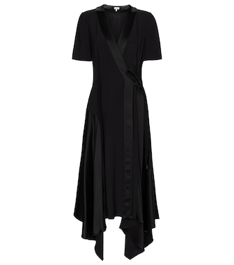 Loewe - Satin-back crêpe midi dress - mytheresa.com