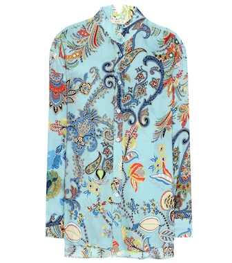 Etro - Printed silk top - mytheresa.com