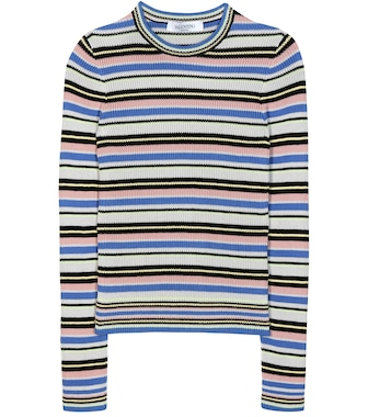 Valentino - Striped cotton sweater - mytheresa.com