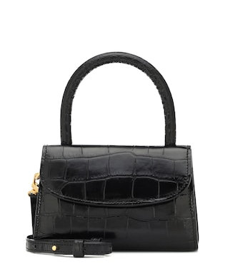 By Far - Mini croc-effect leather tote - mytheresa.com