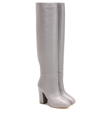 Dries Van Noten - Leather over-the-knee boots - mytheresa.com