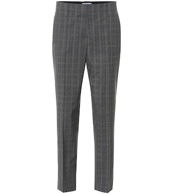 Prada - Mid-rise wool-blend straight pants - mytheresa.com