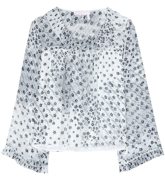 See By Chloé - Printed chiffon top - mytheresa.com