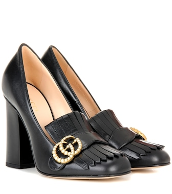 Gucci - Leather loafer pumps - mytheresa.com