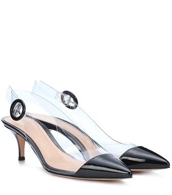 Gianvito Rossi - Alice slingback leather pumps - mytheresa.com