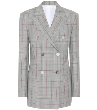 Calvin Klein 205W39NYC - Plaid double-breasted wool blazer - mytheresa.com