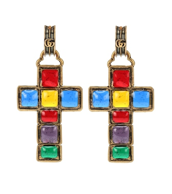 Gucci - Cross pendant earrings - mytheresa.com