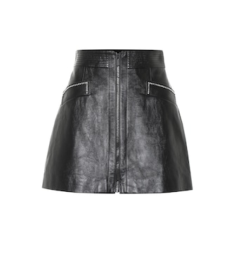 Miu Miu - Leather miniskirt - mytheresa.com