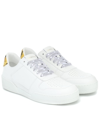 Versace - Leather sneakers - mytheresa.com