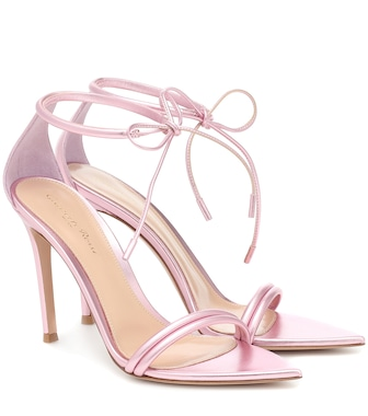 Gianvito Rossi - Montecarlo 105 metallic leather sandals - mytheresa.com