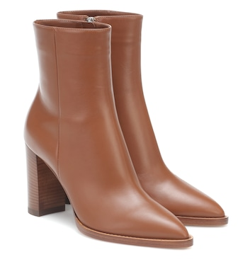 Gianvito Rossi - Leather 85 ankle boots - mytheresa.com