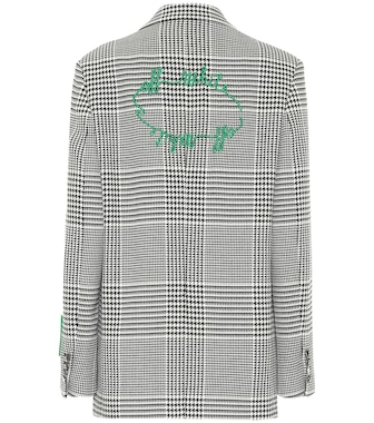 Off-White - Houndstooth blazer - mytheresa.com