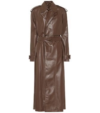 Bottega Veneta - Leather trench coat - mytheresa.com