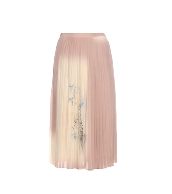 Valentino - Pleated printed silk skirt - mytheresa.com