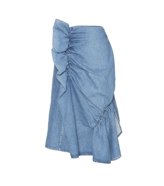 J.W.Anderson - Gathered denim skirt - mytheresa.com
