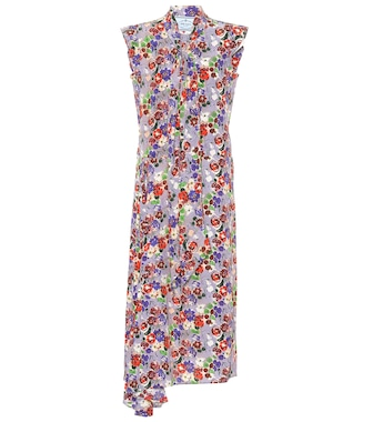 Prada - Floral-printed silk dress - mytheresa.com