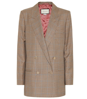 Gucci - Checked wool blazer - mytheresa.com