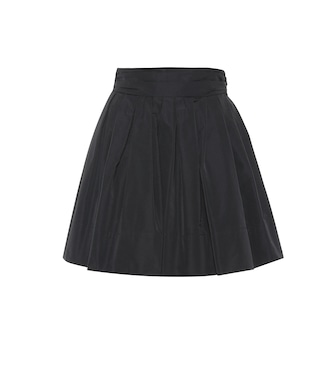 Valentino - Cotton-blend faille miniskirt - mytheresa.com