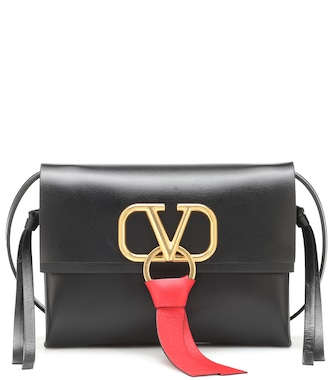 Valentino - Valentino Garavani VRING leather crossbody bag - mytheresa.com
