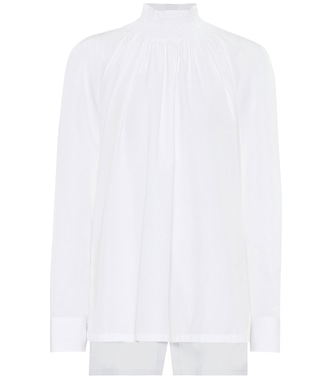 Prada - Cotton-poplin blouse - mytheresa.com