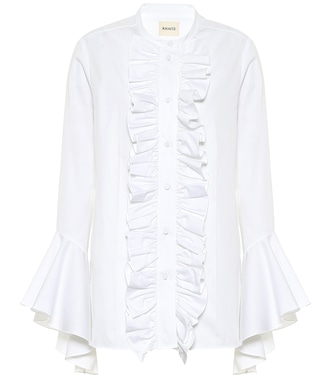 Khaite - Keith cotton poplin blouse - mytheresa.com