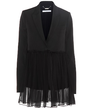 Givenchy - Wool jacket with silk - mytheresa.com