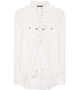 Balmain - Batiste cotton shirt - mytheresa.com