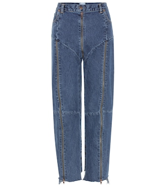 Vetements - High-rise distressed jeans - mytheresa.com