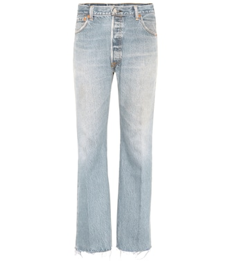 Re/Done - Lea high-waisted cropped jeans - mytheresa.com