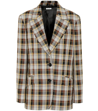 Miu Miu - Checked wool blazer - mytheresa.com