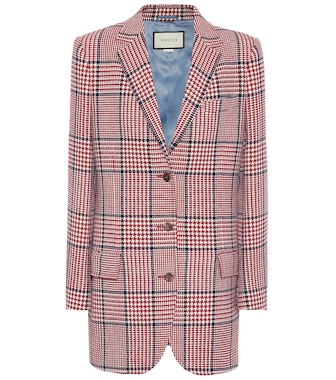 Gucci - Checked wool-blend blazer - mytheresa.com