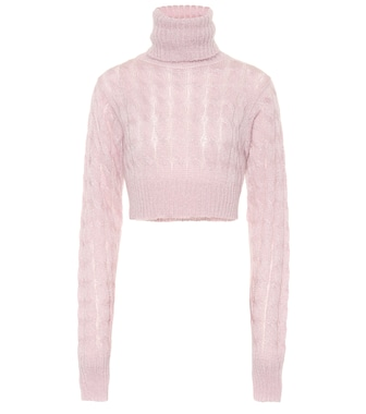 Matthew Adams Dolan - Cropped mohair-blend sweater - mytheresa.com