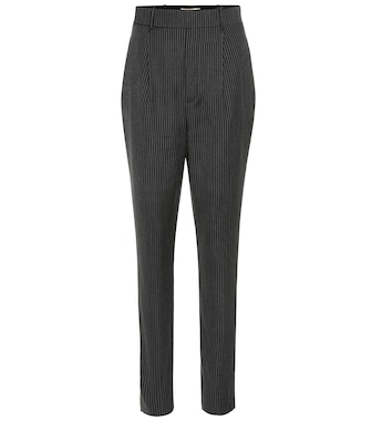 Saint Laurent - High-rise wool pants - mytheresa.com