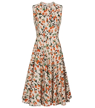 Marni - Sleeveless floral cotton dress - mytheresa.com