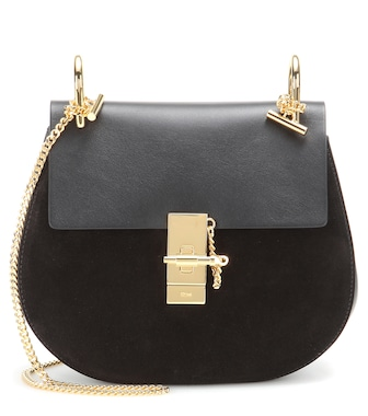 Chloé - Drew Small leather and suede shoulder bag - mytheresa.com