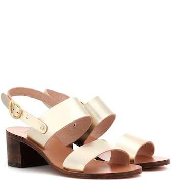 Ancient Greek Sandals - Sandalen Lefki Block aus Metallic-Leder - mytheresa.com