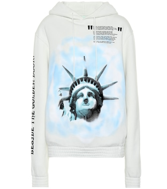 Off-White - Liberty cotton hoodie - mytheresa.com