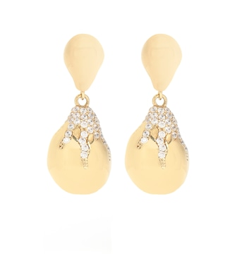 Bottega Veneta - Cubic zirconia drop earrings - mytheresa.com