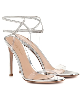 Gianvito Rossi - Exclusive to Mytheresa –  Embellished PVC sandals - mytheresa.com