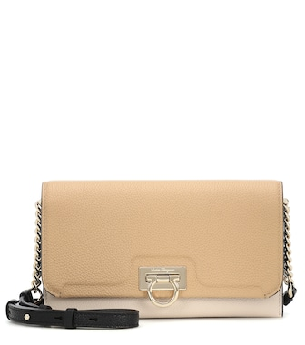 Salvatore Ferragamo - Gancini Mini leather clutch - mytheresa.com