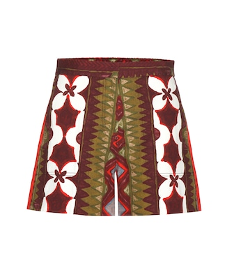 Valentino - Printed cotton and linen shorts - mytheresa.com