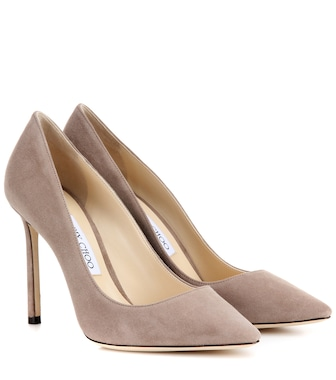 Jimmy Choo - Romy 100 suede pumps - mytheresa.com
