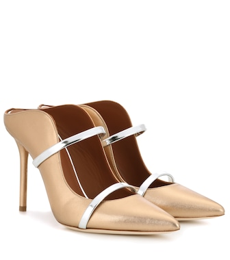Malone Souliers - Maureen metallic leather mules - mytheresa.com