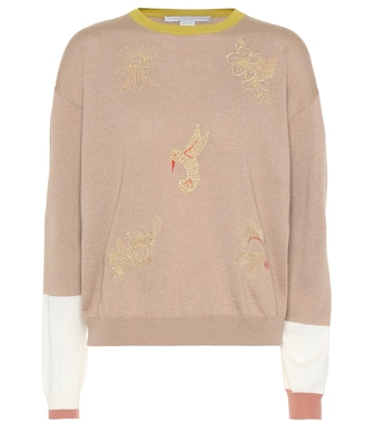 Stella McCartney - Embroidered wool sweater - mytheresa.com